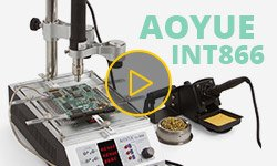 AOYUE Int866 Hot Air Rework Station with IR Preheater Video Review