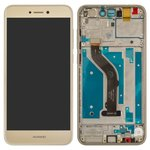 LCD Huawei P8 Lite (2017), P9 Lite (2017), (golden, with touchscreen, with frame, Original (PRC), PRA-LA1, PRA-LX2, PRA-LX1, PRA-LX3)