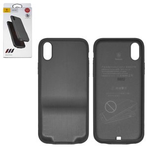 Case Baseus compatible with iPhone X, (black, with adaptor Lightning to Dual Lightning 2 in1) #WIAPIPHX-VI01