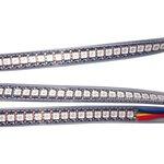 Tira de luces LED RGB SMD5050, WS2813 (con controles, negra, IP67, 5 V, 144 diodos LED/m, 1 m)
