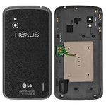 Задняя крышка батареи LG E960 Nexus 4, черная