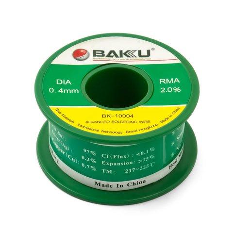 Припой BAKU BK-10004, Sn 97%, Ag 0.3%, Cu 0.7%, Flux 2%, 0.4 мм, 50 г