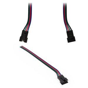 """Cable con conector de 4 pines JST (tipo """"hembra"""") para tiras de luces LED RGB SMD 5050,  WS2813"""